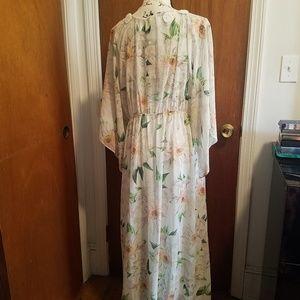 Farm Rio Dahlia Maxi Dress Size XL NWT